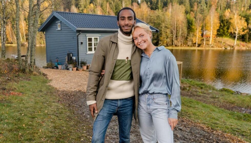 VINNERE: Levi Try og Øyunn Krogh vant den fjerde sesongen av «Sommerhytta». Nå avslører de opptakten til tv-deltakelsen. Foto: TV 2