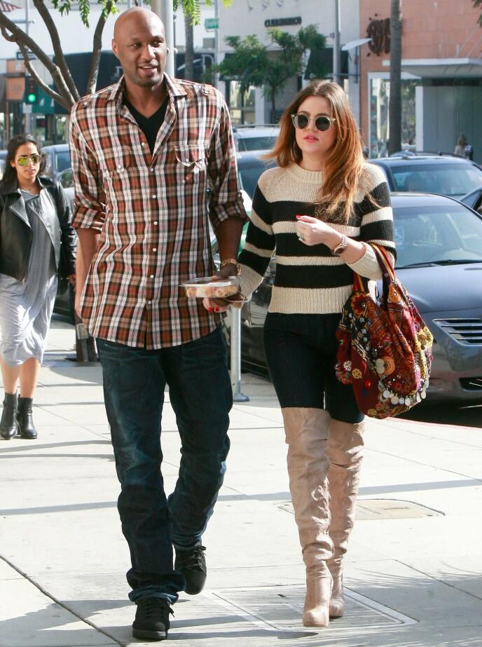 TOK SLUTT: Lamar Odom og Khloé Kardashian hadde et turbulent ekteskap. I 2016 var det spikeren i kisten. Foto: REX / NTB