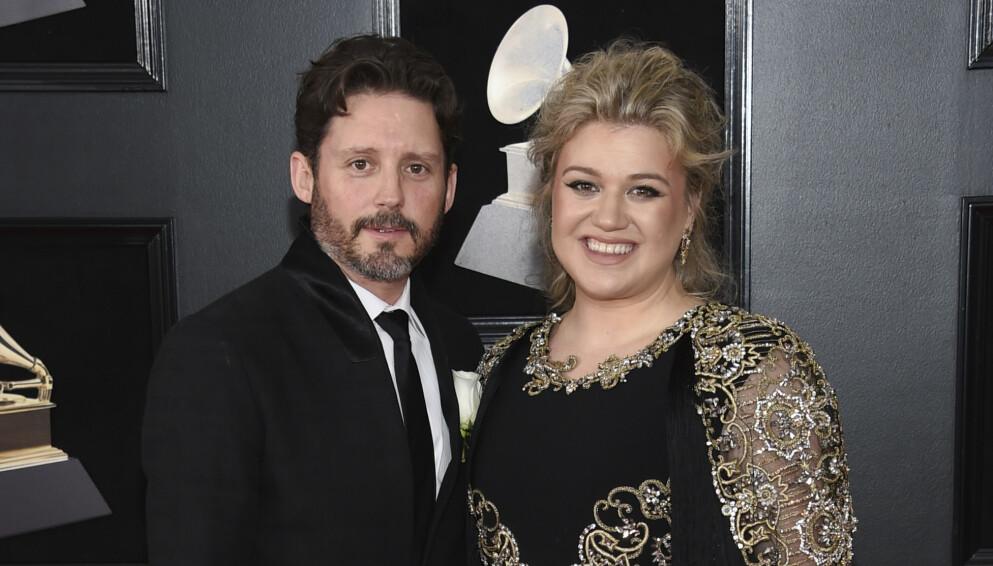 ISFRONT: I juni i fjor gikk Brandon Blackstock og Kelly Clarkson hver til sitt. Foto: Evan Agostini/Invision/AP, File/NTB