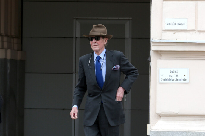 I RETTEN: Prins Ernst August møtte i retten i Østerrike denne uka. Foto: Splash News / NTB