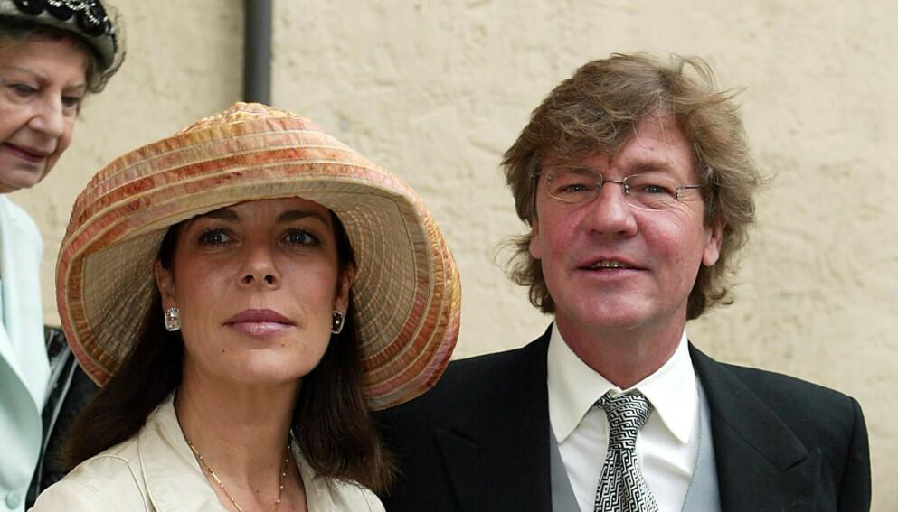 DOM: Prinsesse Carolines ektemann prins Ernst August ble denne uka dømt til ubetinget fengsel. Her er ekteparet i 2003. Foto: Frank Rollitz / REX / NTB