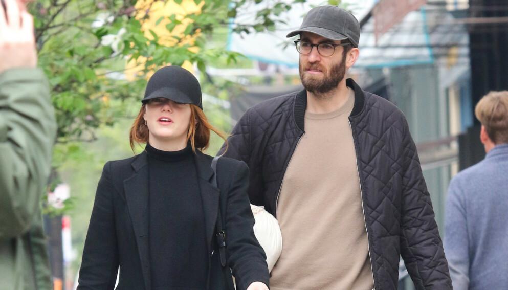 NYBAKT MOR: Skuespiller Emma Stone skal ha født sitt første barn for to uker siden. Foto: Splash News / NTB