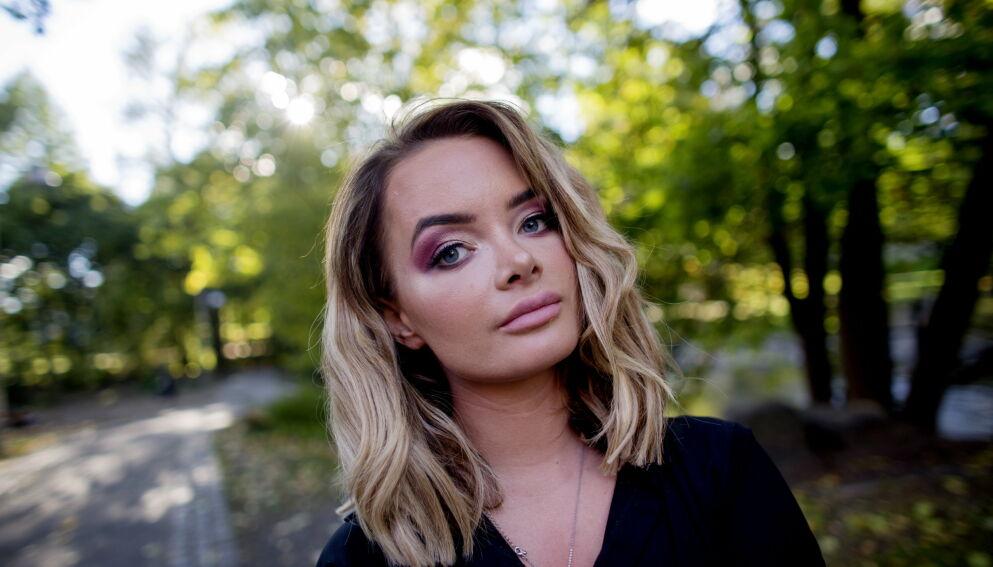 GRÅTKVALT: Det er en preget Sophie Elise Isachsen som forteller om den sjokkerende hendelsen fredag ettermiddag. Foto: Sveinung U. Ystad/ Dagbladet