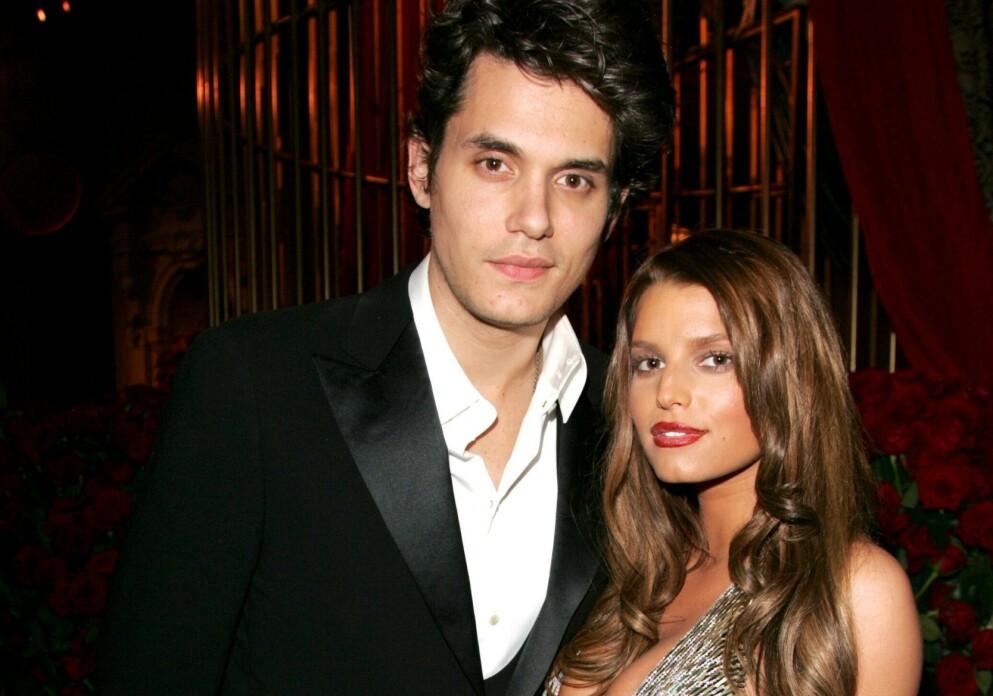 EKS-KJÆRESTER: Fra 2006 til 2007 var John Mayer og Jessica Simpson et av Hollywoods heteste par. Foto: Matt Baron/BEI/REX/NTB