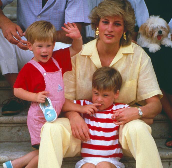 STORT SAVN: Prins Harry og prins William sammen med moren ti år før hennes bortgang. Til sommeren skulle Diana ha blitt 60 år. Foto: TODAY/REX/NTB