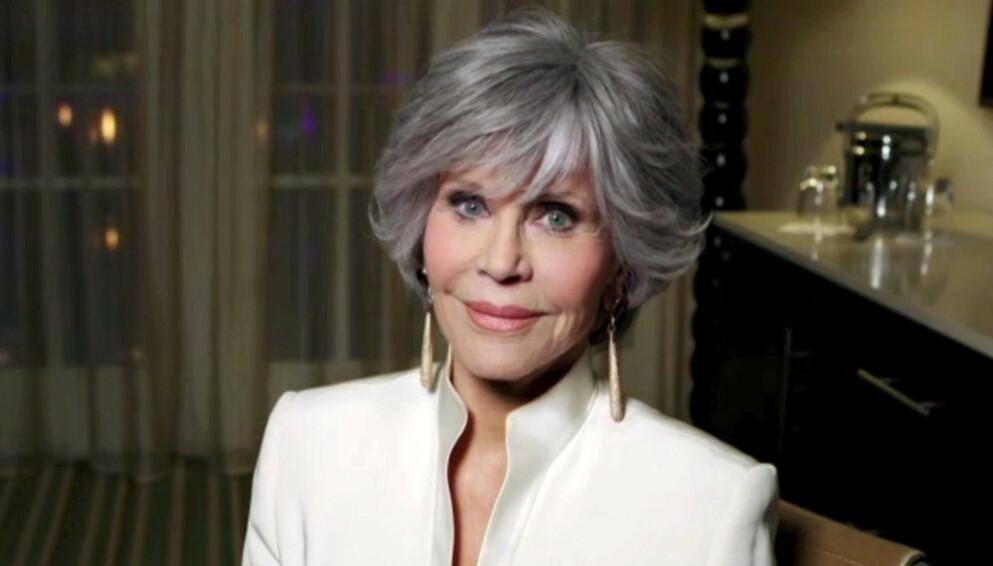 ÅPEN: Det kan være vanskelig å tro at Jane Fonda har rundet 80 år og vel så det. Her er hun avbildet i Los Angeles sist måned. Foto: Reuters / Nbc Handout / NTB