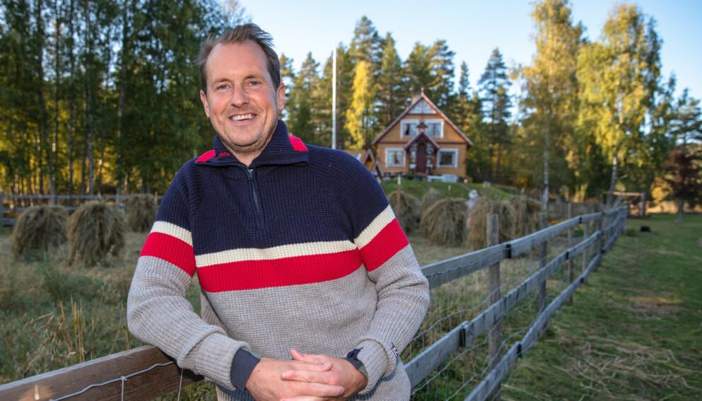 PÅ DATER'N: Fjorårets vinner Per Gunvald Haugen forteller at han og meddeltaker Karianne Wahlstrøm har fått et godt øye til hverandre. Foto: Alex Iversen / TV 2