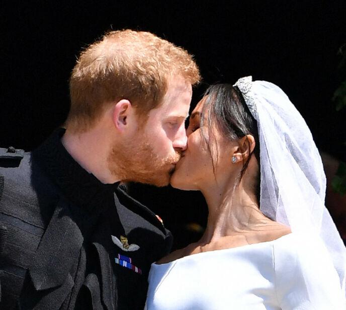 SMASK: Hertugparet av Sussex giftet seg i Windsor i 2018. Det viser seg også at det var den eneste bryllupet de hadde. Foto: Ben Stansall / AFP / NTB