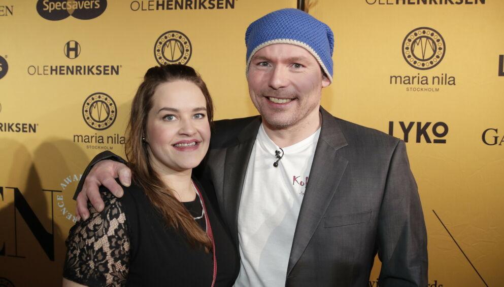 GIFT: Asbjørn «Kokkejævel» Sandøy og Christine Pedersen giftet seg forrige helg. I samme slengen døpte de sønnen, som kom til verden i fjor. Foto: Vidar Ruud / NTB