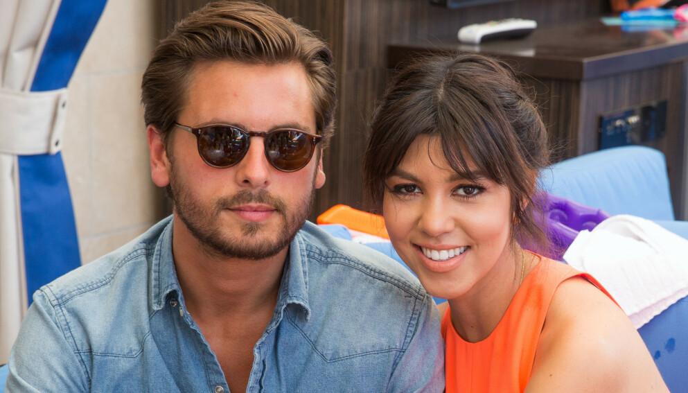 FREMDELES NÆRE: Scott Disick og Kourtney Kardashian var lenge et av Hollywoods heteste par. De har også tre barn sammen. Her i Las Vegas i 2013. Foto: Mediapunch/REX/NTB