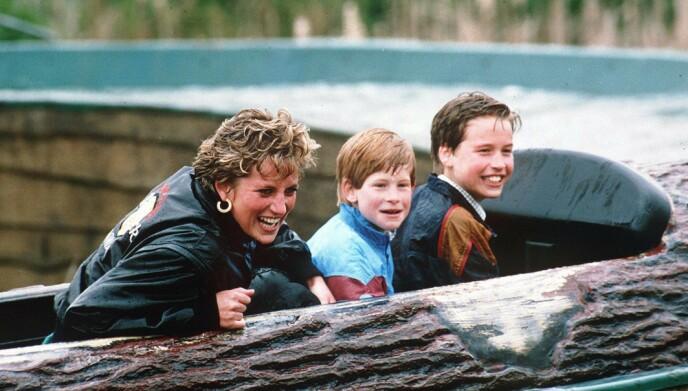 1993: Prinsesse Diana med Harry og William i 1993. Foto: Cassidy And Leigh / REX / NTB
