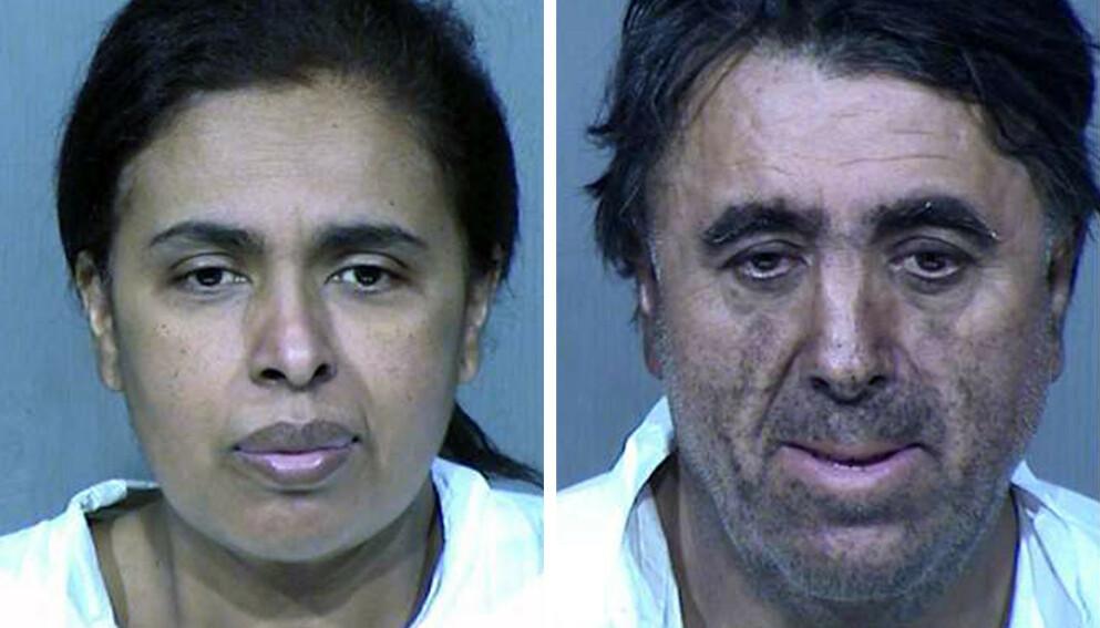 TILTALT: Den 13 år gamle jentas foreldre ble pågrepet i januar i fjor. Nå er de tiltalt for drap på sin egen datter. Foto: Politiet i Phoenix