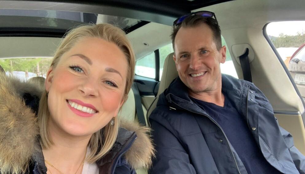 GOD STEMNING: Karianne Amlie Wahlstrøm og Per Gunvald Haugen er mye sammen, og ser ikke bort fra at de med tiden blir kjærester. Foto: Privat