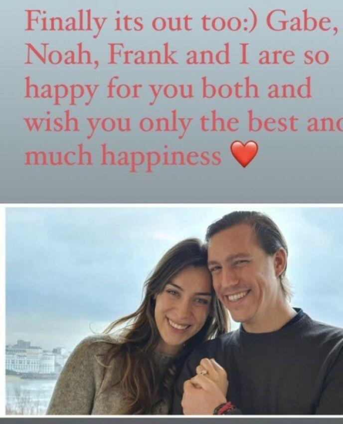 HILSEN FRA EKSEN: Tessy sendte følgende beskjed til eksmannen. Foto: Skjermdump fra Instagram