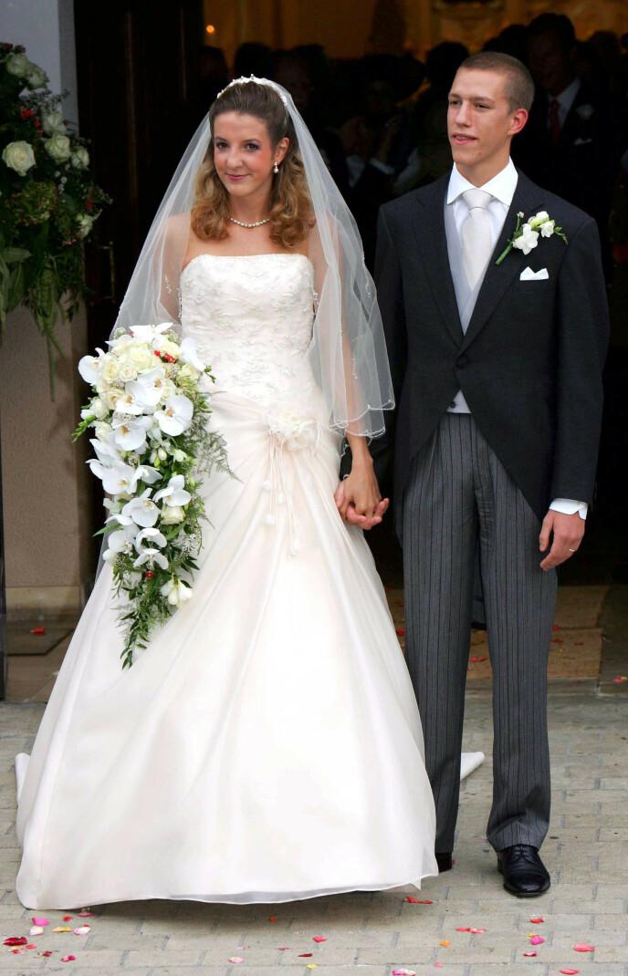 NYTT BRYLLUP: Tessy og Louis da de giftet seg i 2006. Nå har eksparet funnet lykken på hver sin kant. Foto: Frank Rollitz / REX / NTB