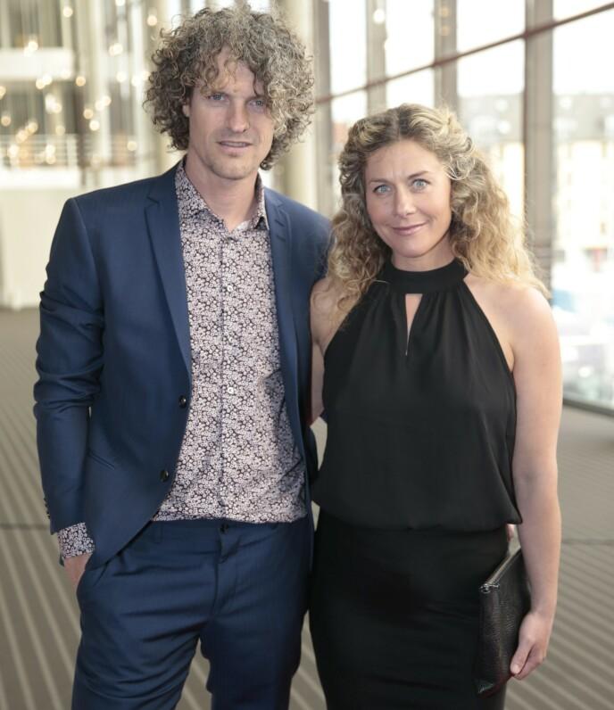 FORELDRE: Cecilie Skog og eksforloveden Aleksander Gamme under Gullruten i 2016. Foto: Lise serud / NTB