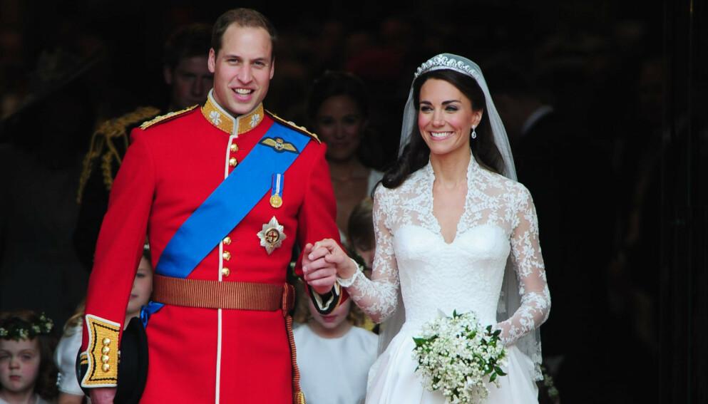 GIFT: 29. april for ti år siden ble William og Kate ektefeller. Nå avslører brudeparets konditor hva som skjedde bak lukkede dører. Foto: Tim Rooke / REX / NTB