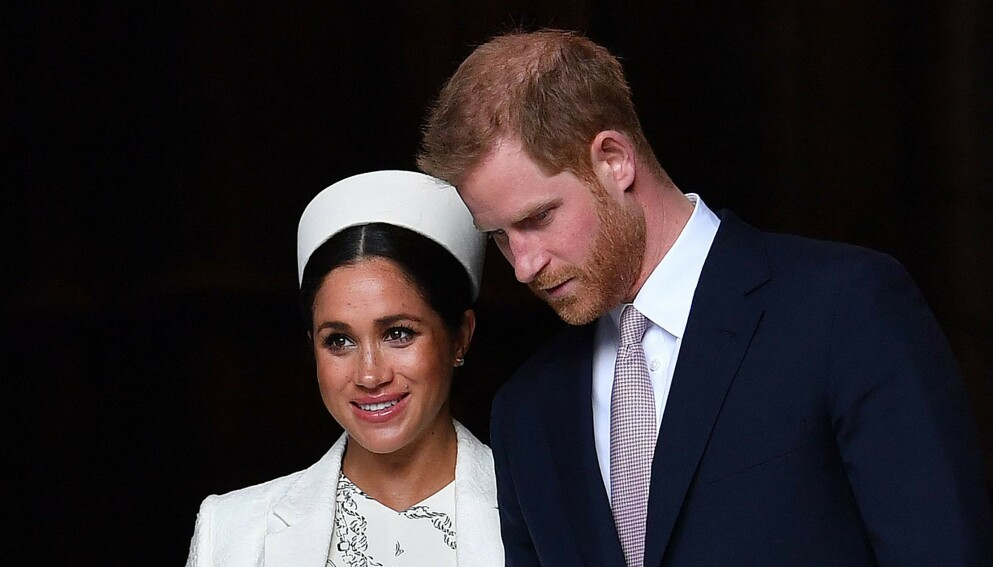 I SORG: Prins William og hertuginne Meghan deler en kort melding etter prins Philips dødsfall. Foto: Ben Stansall / AFP / NTB