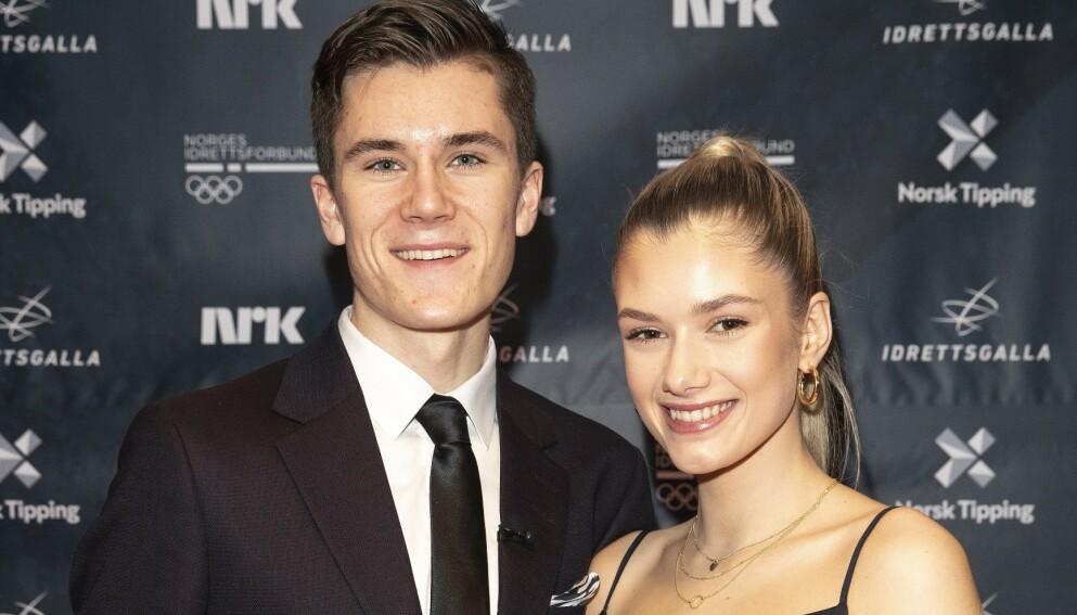 FORLOVET: Jakob Ingebrigtsen og Elisabeth Asserson skal gifte seg. Det avslører paret på Instagram. Foto: Andreas Fadum / Se og Hør