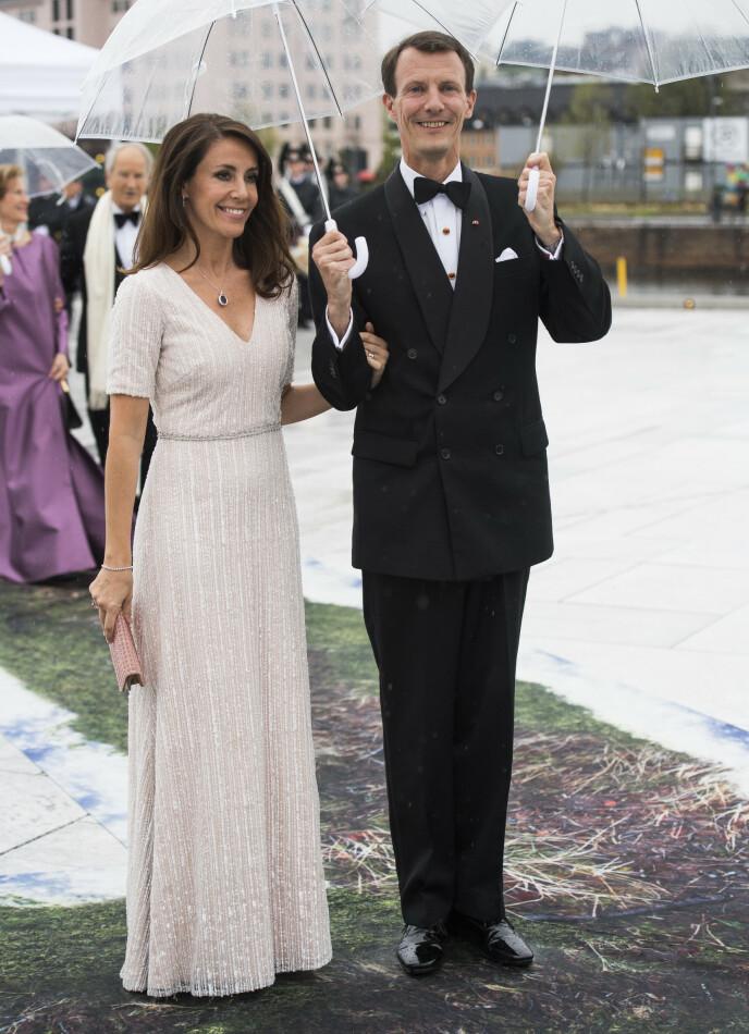 NORGESBESØK: Det danske prinseparet i Oslo i anledning det norske kongeparets 80-årsdag. Foto: Jon Olav Nesvold / NTB