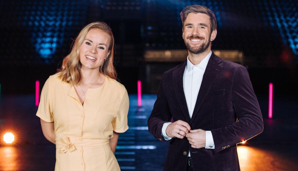 OVER OG UT: Helene Olafsen og Stian Blipp har ledet programmet siden 2018, men nå legges det ned. Foto: Helene Kjærgaard / TV 2