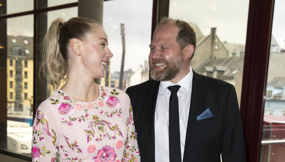 SMILER: Charlotte Smith og Truls Svendsen har all grunn til å smile om dagen. Foto: Andreas Fadum / Se og Hør