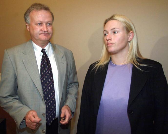 2001: Kjærvik forsvarte Kristin Kirkemo i Orderud-saken. Hun ble dømt til 16 års fengsel for sin rolle i trippeldrapet. Foto: Lise Åserud / NTB