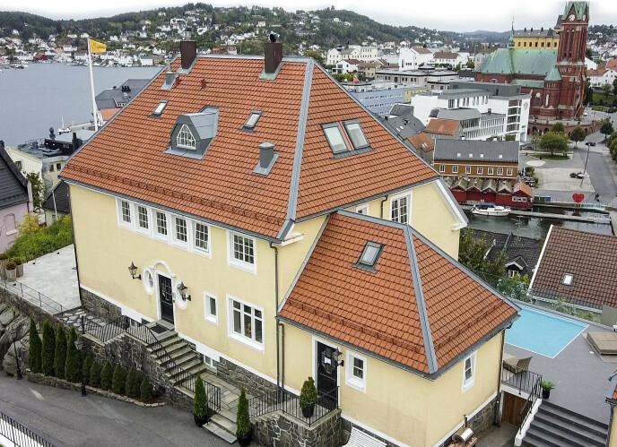 HÅVER INN: «Mesternes Mester»-huset i Arendal er leid ut for sommeren, opplyser eierne. Foto: Lars Eivind Bones / Dagbladet