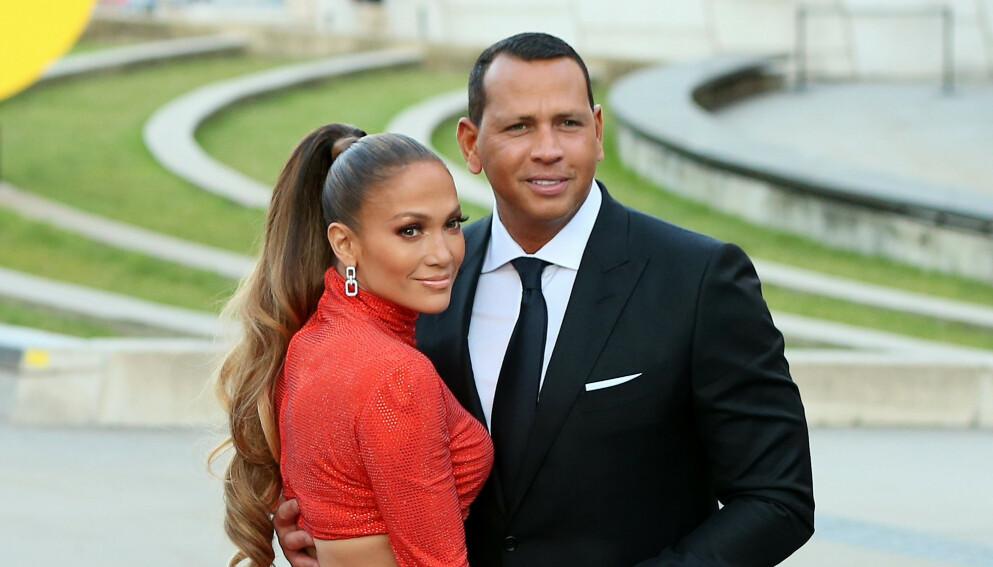 SKILLER LAG: Etter en rekke bruddrykter den siste tiden, bekrefter Lopez og Rodriguez at de har skilt lag. Foto: Splash News / NTB