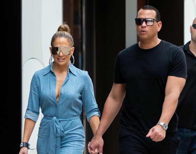 TOK SLUTT: For drøye tre uker siden ble det omsider offentlig at det er slutt mellom Jennifer Lopez og Alex Rodriguez. Foto: SplashNews