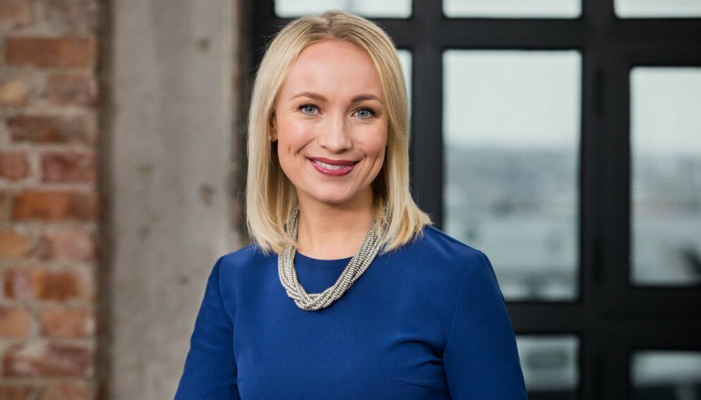 NUMMER TO: Linn Wiik annonserte sin andre graviditet på TV 2 fredag formiddag. Foto: TV 2
