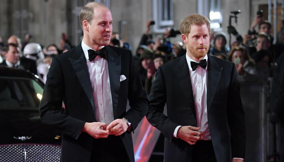 DISTANSE: Prins Harry har selv beskrevet forholdet til broren med ordet «distanse». De skal ikke gå ved siden av hverandre under begravelsen. Foto: David Fisher /REX / NTB