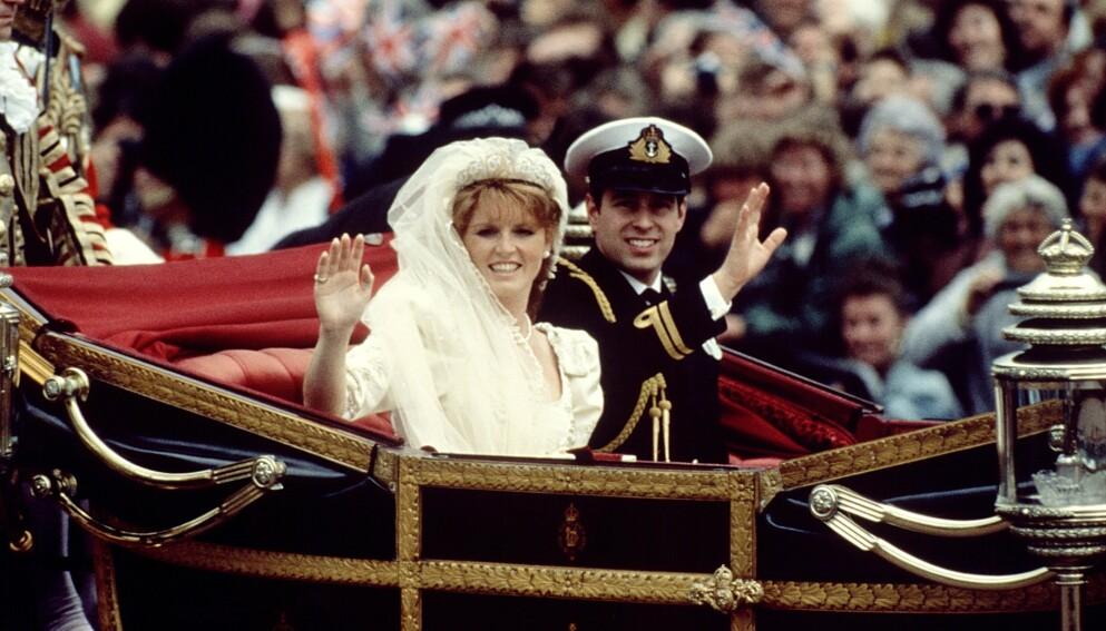 IKKE TIL STEDE: Sarah Ferguson giftet seg med prins Andrew i 1986. Paret skilte lag ti år senere, men har bevart et spesielt forhold i etterkant. Førstnevnte er vanligvis også å se i forbindelse med kongelige tilstelninger. Foto: Shutterstock Editorial / REX / NTB