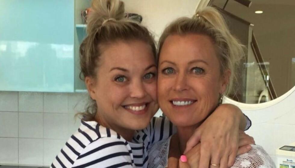 I SORG: Lisa Curry sammen med datteren Jaimi (til venstre). Foto: Instagram