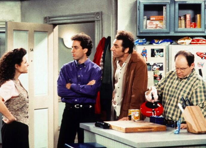 ETTERTRAKTEDE: I 2019 kom nyheten om at Netflix bladde opp et milliardbeløp for rettighetene til «Seinfeld» fra 2021. Det betyr gode penger i kassen for Julia Louis-Dreyfus, Jerry Seinfeld, Michael Richards, og Jason Alexander. Foto: Shutterstock / NTB