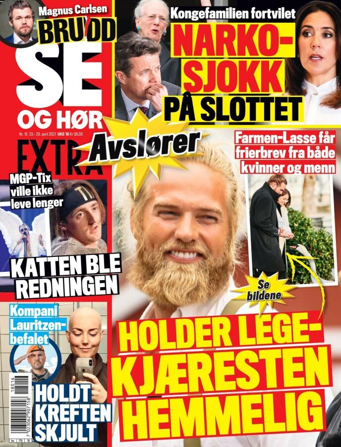 GLADNYHET: I fredagens utgave av Se og Hør kommer det frem at Lasse Matberg ikke lenger er ledig på markedet. Faksimile: Se og Hør