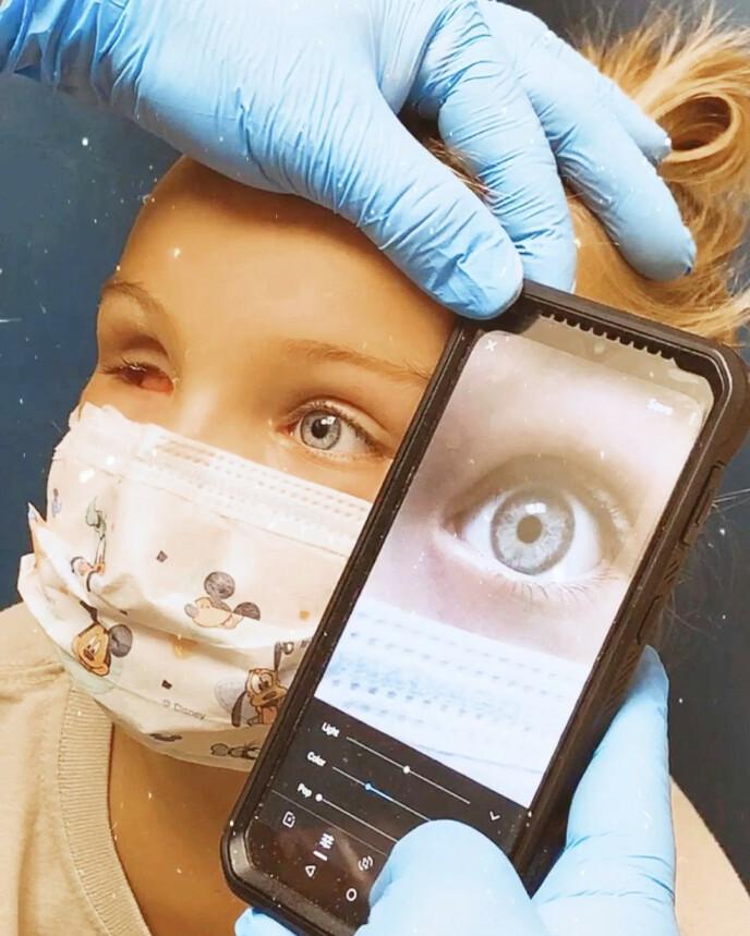 TØFF TID: Den lille jenta gikk gjennom to tøffe runder med cellegift, men det var ikke nok til å stoppe kreften. Foto: Media Drum World