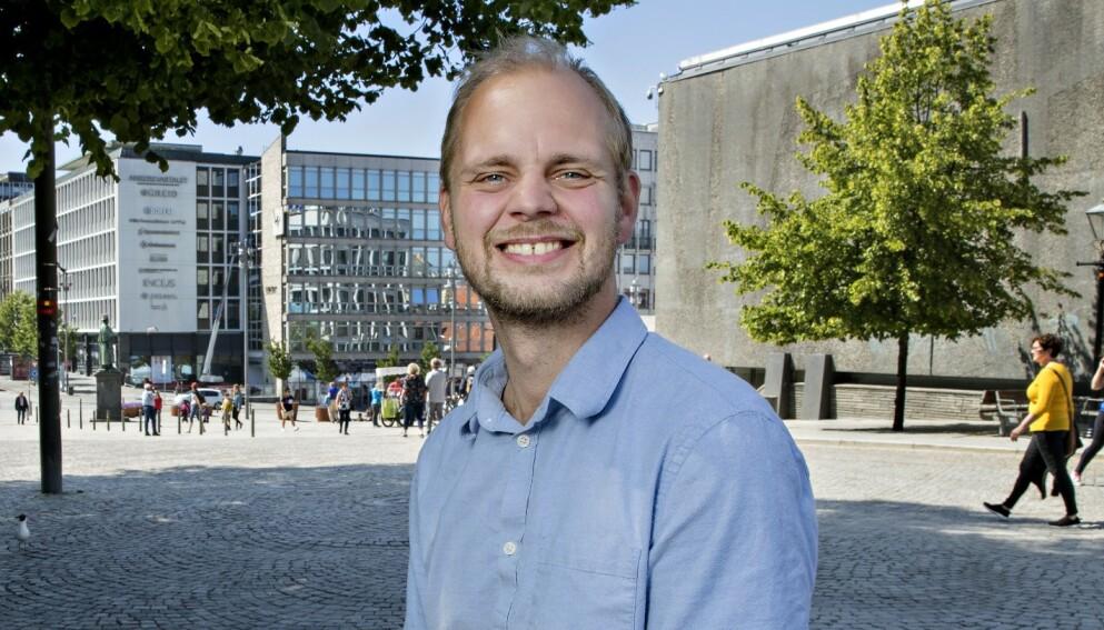 VENTER BARN: Mímir Kristjánsson og samboeren blir tobarnsforeldre. Foto: Kristian Ridder-Nielsen/Dagbladet
