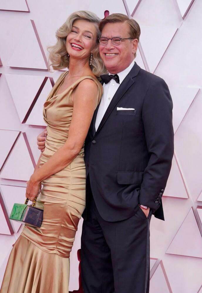 LYKKEN SMILER: Duoen så svært forelsket ut på årets Oscar-utdeling. Foto: Chris Pizzello / AFP / NTB