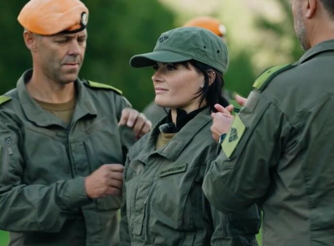 MER TV: Ulrikke Brandstorp har imponert som rekrutt i militærleiren i Åndalsnes i TV 2-programmet «Kompani Lauritzen». Foto: Matti Bernitz / TV 2