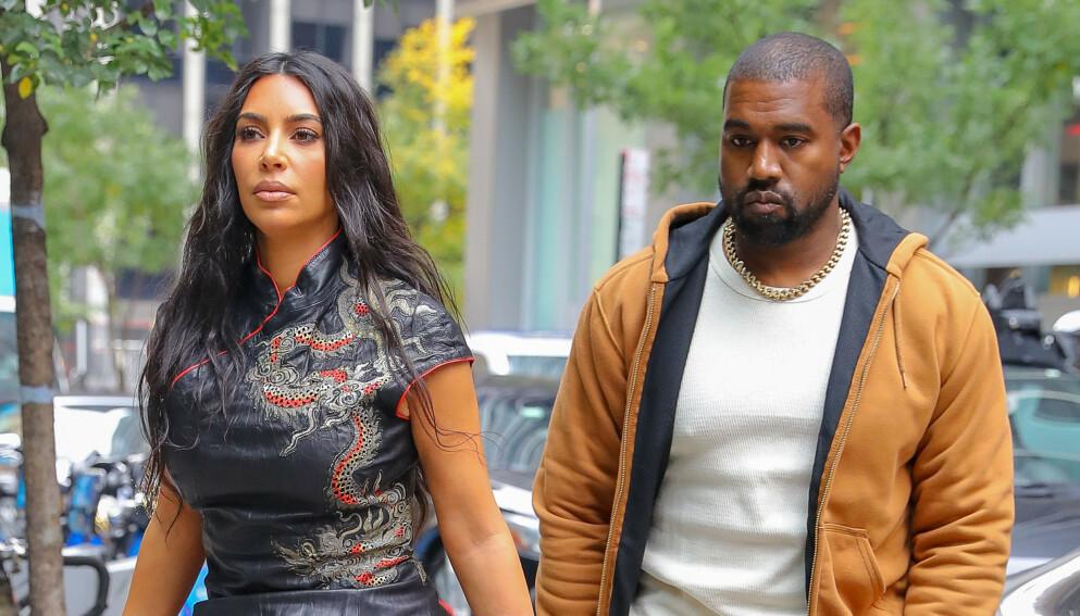 OVER OG UT: Kim Kardashian og Kanye West skilte lag i februar, men sistnevnte ser ut til å ikke ville gi helt slipp på ekteskapet enda. Ifølge kilder skal han derimot ha tydelige preferanser for sin neste utkårede. Foto: Felipe Ramales / Splash News / NTB