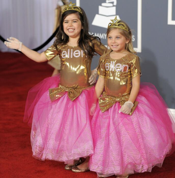 DEN GANG DA: Sophia og Rosie på GRAMMY-utdelingen i 2012. Foto: NTB