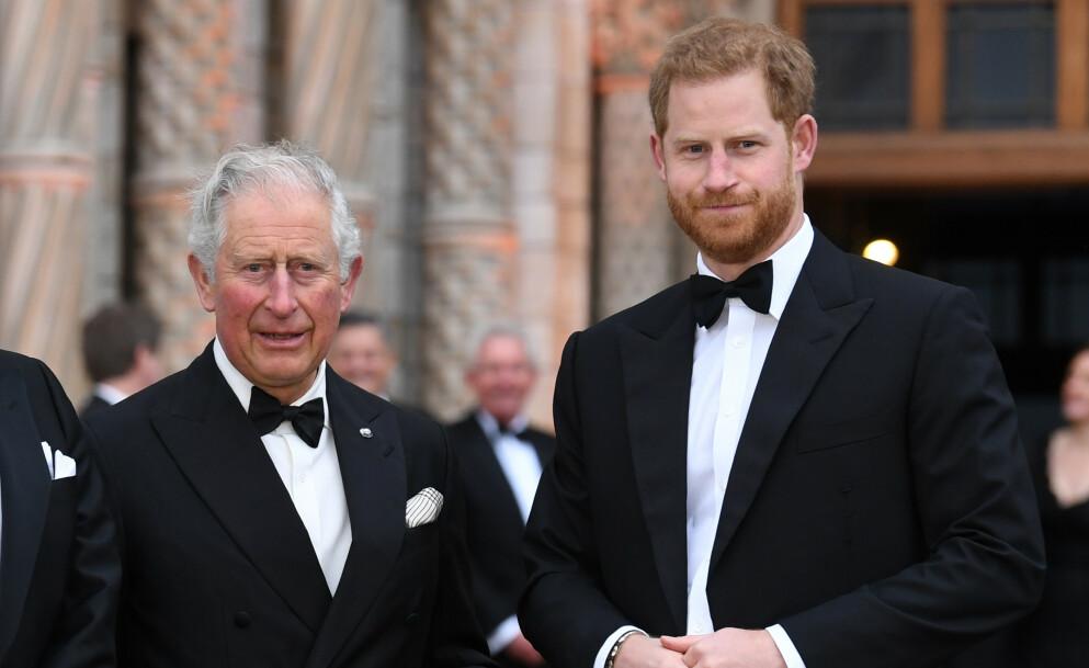 UVENNER: Det er angivelig dårlig stemning mellom prins Charles og prins Harry. Foto: Doug Peters / Empics Entertainment / NTB