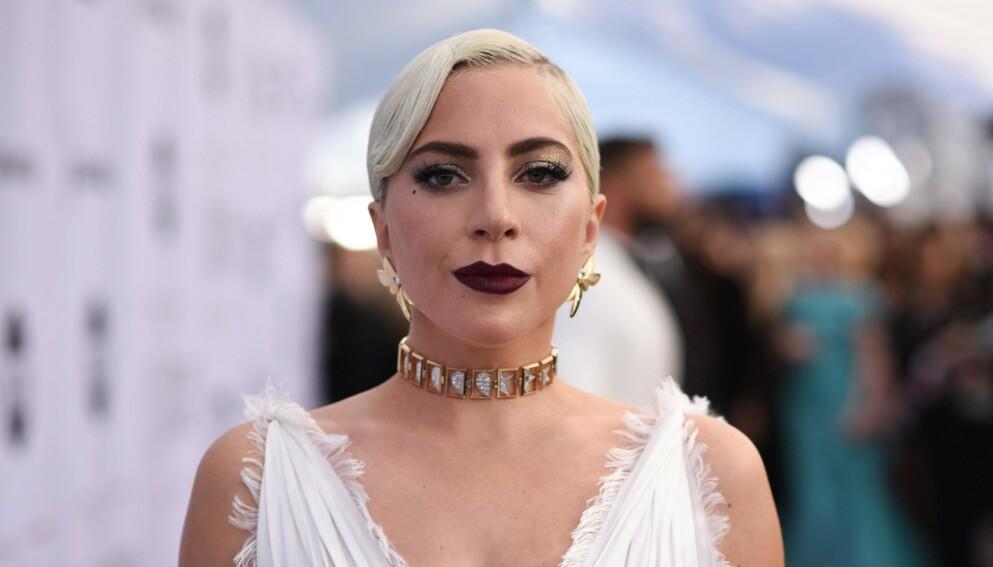 TÅREVÅTT: Lady Gaga tok til tårene da hun fortalte sin sterke historie i den nye serien «The Me You Can't See». Foto: Robyn Beck / AFP