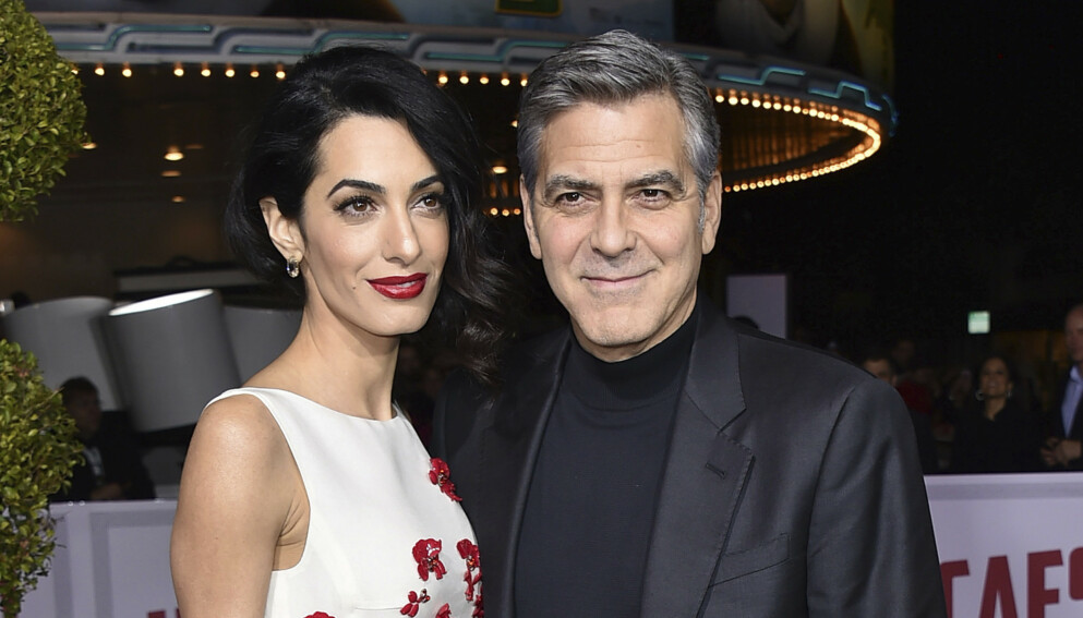 FAMILIEMANN: Amal og George Clooney er godt gift og foreldre til tvillinger. Foto: Jordan Strauss/Invision/AP/NTB