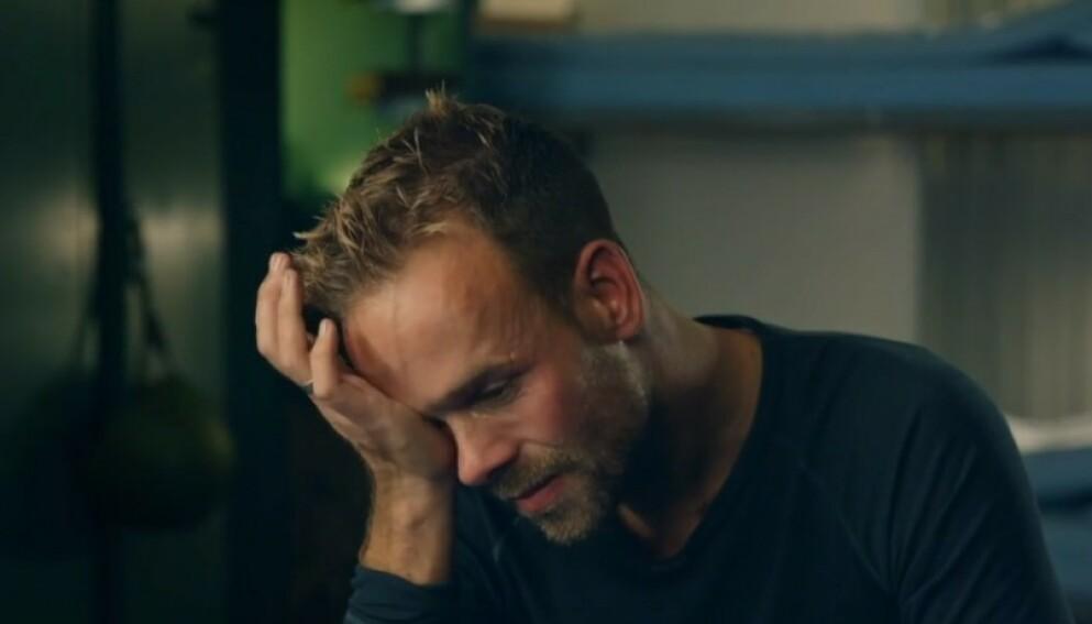 GRÅT PÅ TV: Morten Hegseth er ute av «Kompani Lauritzen». I episode fire tok han til tårene på tv, men det var hans eget initiativ som gjorde at det ble fanget på kamera. Foto: TV 2
