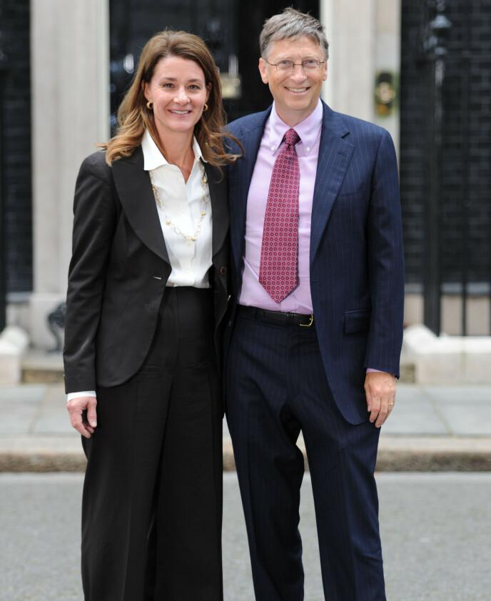 SKILLES: Melinda og Bill Gates skilles etter 27 år. Det bekreftet paret mandag. Foto: Alan Davidson / REX / NTB