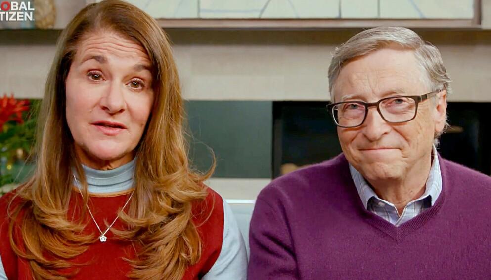 BRUDD: Bill Gates melder på Twitter mandag at han og kona skilles etter 27 år. Foto: AFP PHOTO /Global Citizen's One World: Together At Home /HANDOUT/NTB