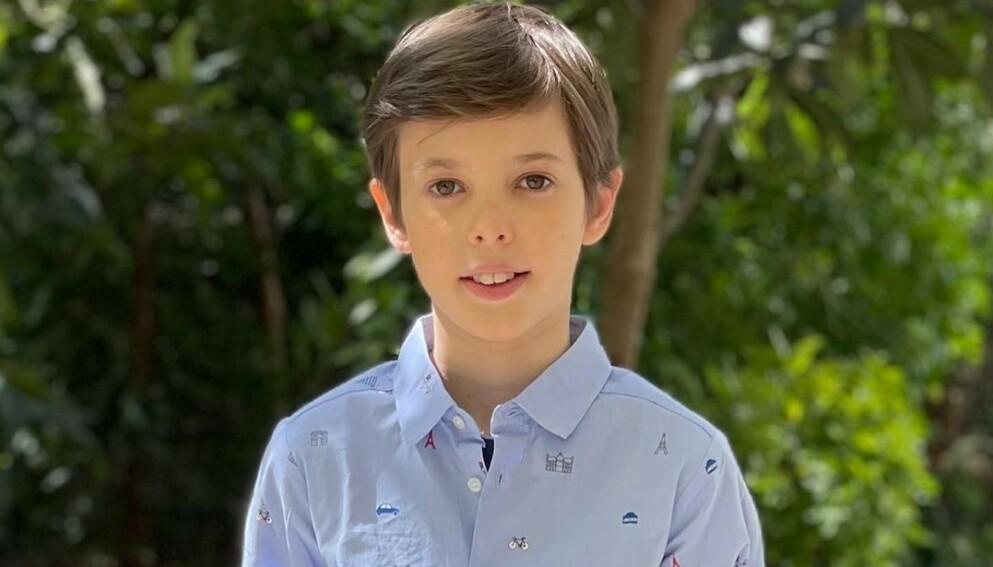 BURSDAGSGUTT: Prins Henrik fyller 12 år i dag. Foto: Prinsesse Marie / Det danske kongehus