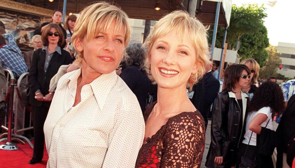 VAR KJÆRESTER: Ellen DeGeneres og Anne Heche var et par i tre år, fra 1997 til år 2000. Her avbildet i 1997. Foto: Shutterstock Editorial / Bei / REX / NTB